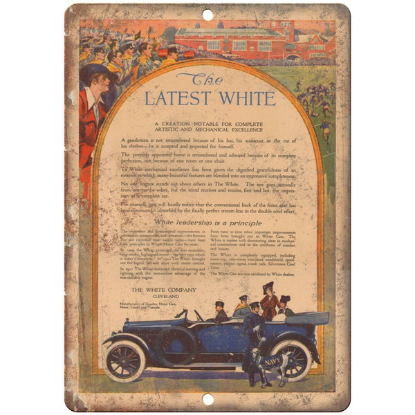 "1915 - The White Motor Company Vintage Ad - 10"" x 7"" Retro Metal Sign"
