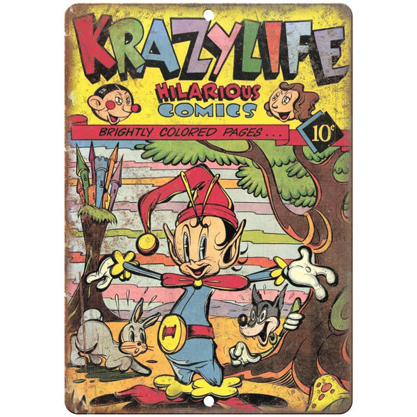 "Krazy Life Comic Book Cover Vintage Art 10"" x 7"" Reproduction Metal Sign J660"