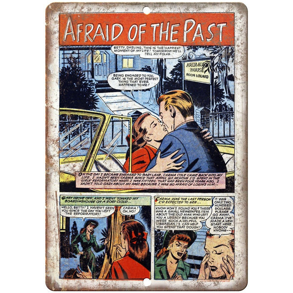 "Ace Comics Afraid of The Past Comic Strip 10"" X 7"" Reproduction Metal Sign J409"