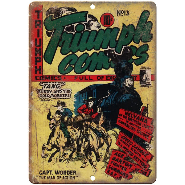 """Baffling Mysteries Ace Comic Book Cover 10/"""" x 7/"""" Reproduction Metal Sign J523"""