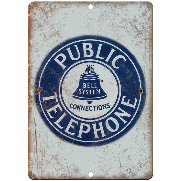 Public Telephone Bell System Porcelain Look Reproduction Metal Sign U126