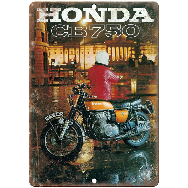 "Honda CB 750 Motorcycle Vintage Print Ad 10"" x 7"" Reproduction Metal Sign F45"