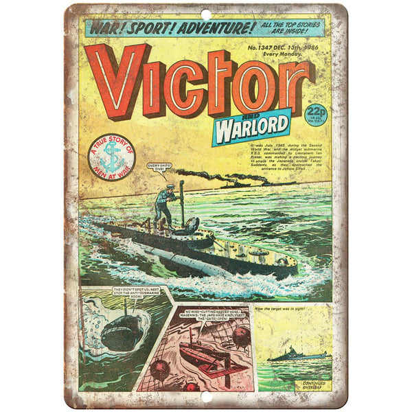 "Victor No 1347 Comic Book Cover Vintage Ad 10"" x 7"" Reproduction Metal Sign J647"