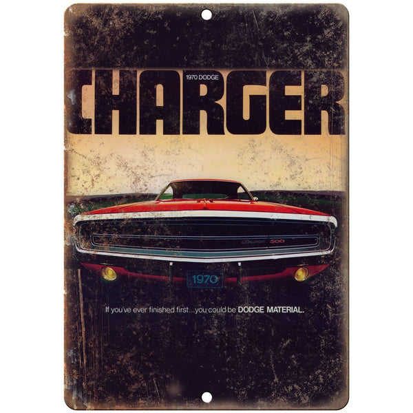 "1970 Dodge Charger 500 Vintage Car Ad 10"" x 7"" Reproduction Metal Sign A250"