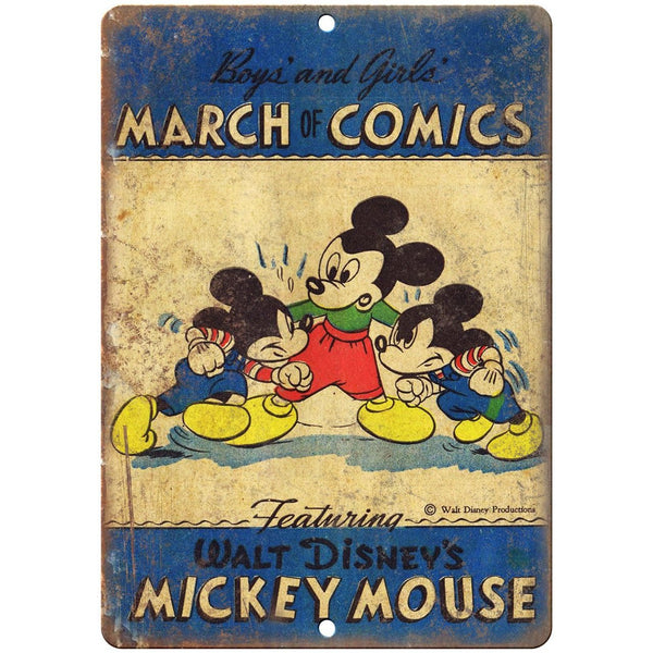 "Boys and Girls March of Comics Vintage Ad 10"" X 7"" Reproduction Metal Sign J440"
