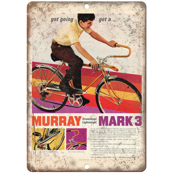 "The Murray Ohio Mfg. Co Bicycle Vintage Ad 10"" x 7"" Reproduction Metal Sign B444"