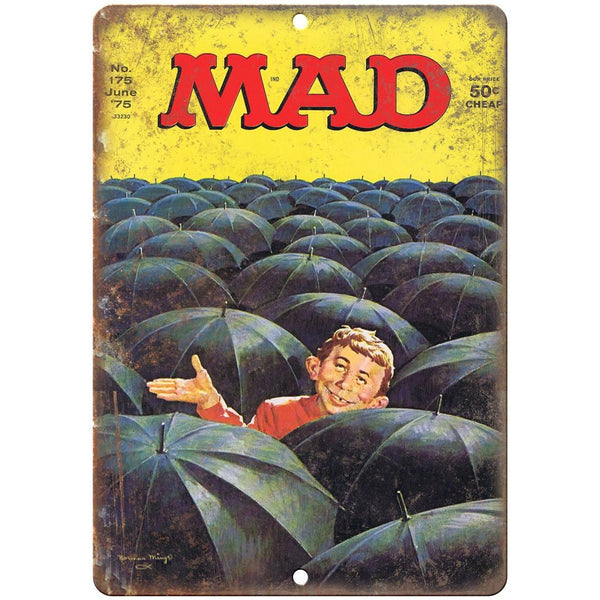 "1975 Mad Magazine No. 175 Cover Norman Mingo 10""x7"" Reproduction Metal Sign J60"