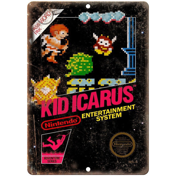 "Nintendo Kid Icarus Video Game Cartridge 10"" x 7"" Reproduction Metal Sign A04"
