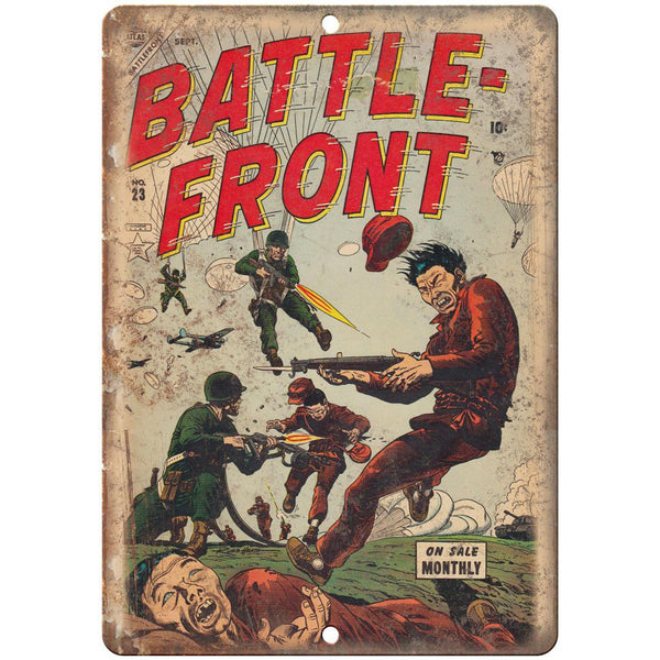 "Battle Frontt No 23 Comic Book Cover Ad 10"" x 7"" Reproduction Metal Sign J715"