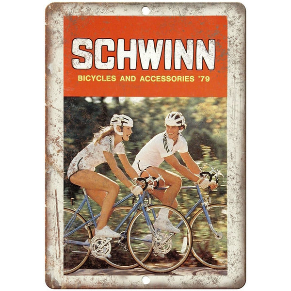 "1979 - Schwinn Bicycles and Accessories Catalog - 10"" x 7"" Retro Look Metal Sign"