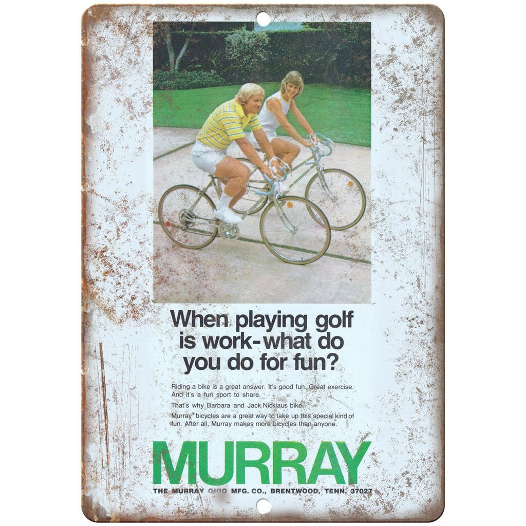 "Murray Ohio Mfg. Co. 10 Speed Bike Vintage Ad 10""x7"" Reproduction Metal Sign B17"