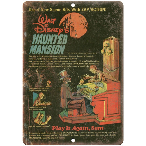 "Walt Disney's Haunted Mansion Comic Book Ad 10""X7"" Reproduction Metal Sign J118"