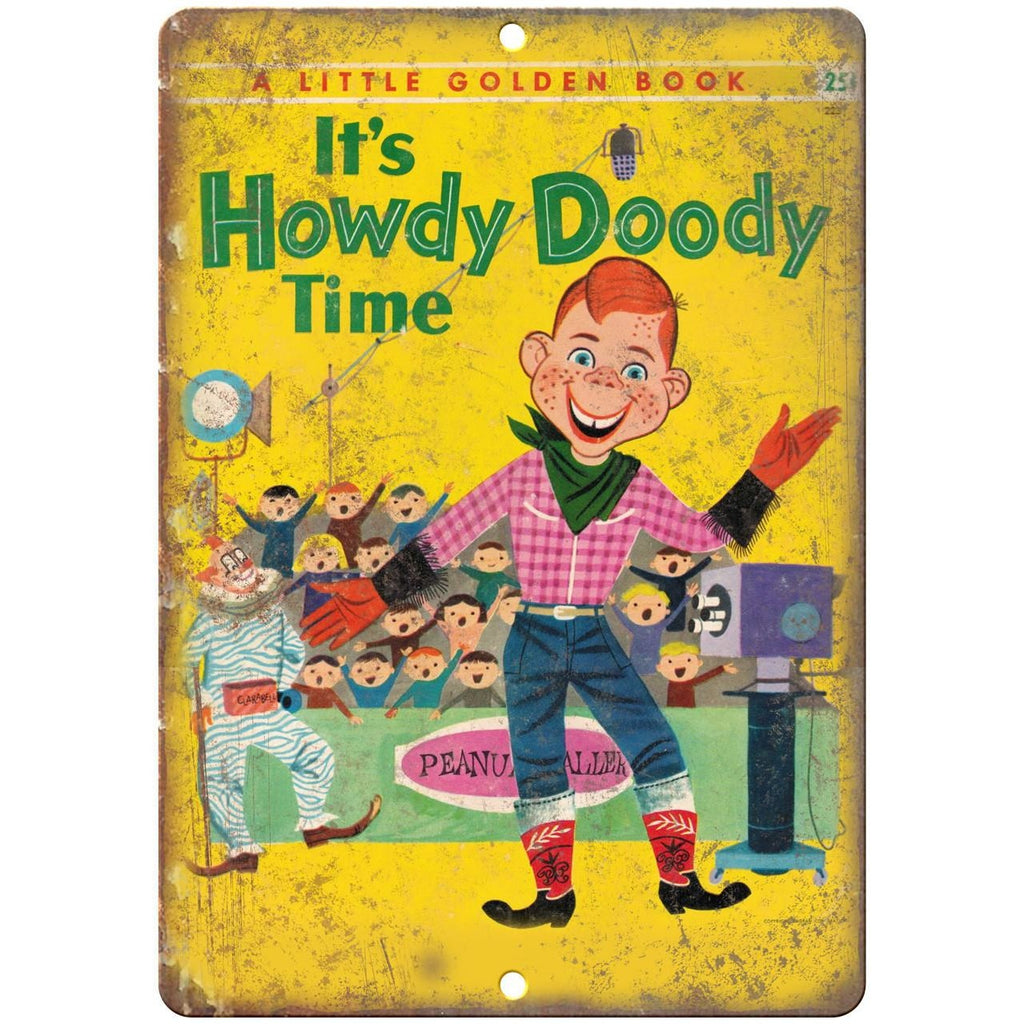 "It's Howdy Doody Time Comic Cover Art 10"" x 7"" Reproduction Metal Sign J77"