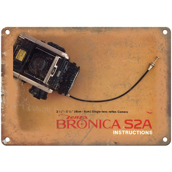 "Lenza Broncia S2A Film Camera 10"" x 7"" Retro Look Metal Sign"