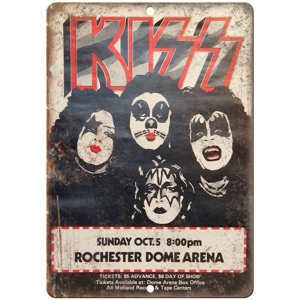 "Only 2 Left Kiss Rochester Dome Arena concert flyer 10""x7"" retro metal sign K11"