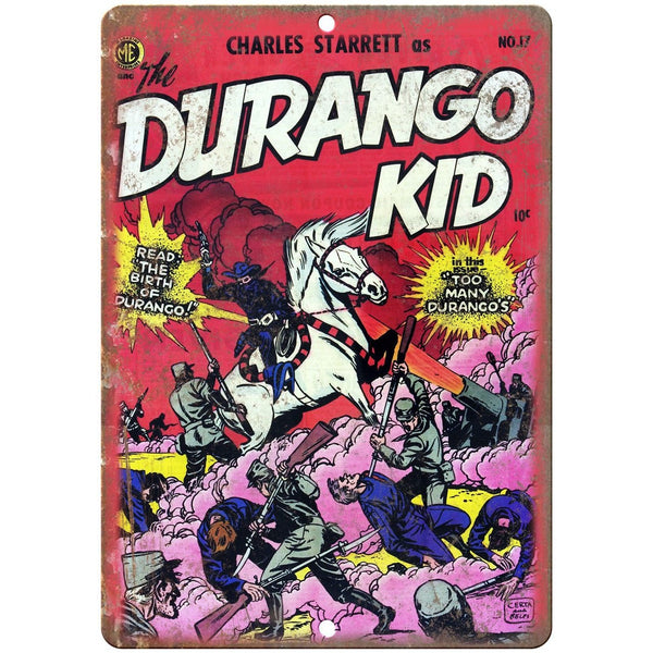 "The Durango Kid Vintage Comic Cover 10"" X 7"" Reproduction Metal Sign J271"