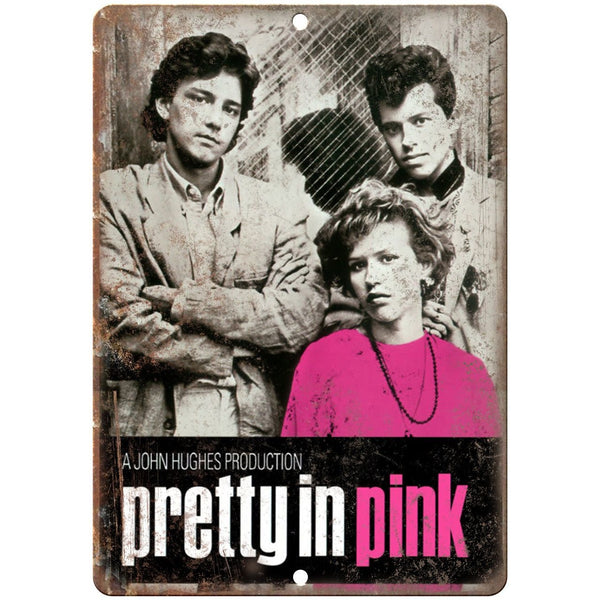 "Pretty In Pink, John Hughes VHS Cover 10"" x 7"" Reproduction Metal Sign"