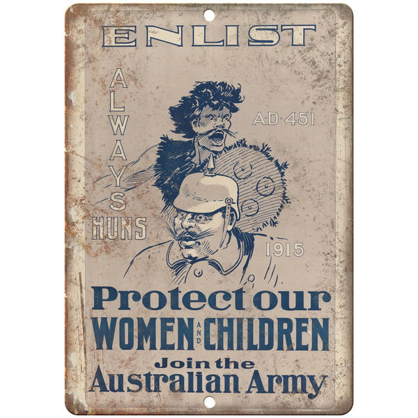 "Enlist Australian Army Recruitment Poster 10"" x 7"" Reproduction Metal Sign M141"