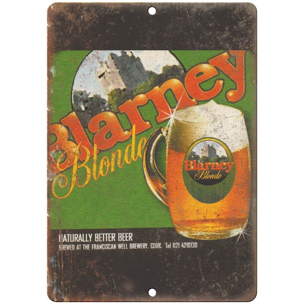 "Blarney Blonde Cork Ireland Vintage Beer 10"" x 7"" Reproduction Metal Sign E266"