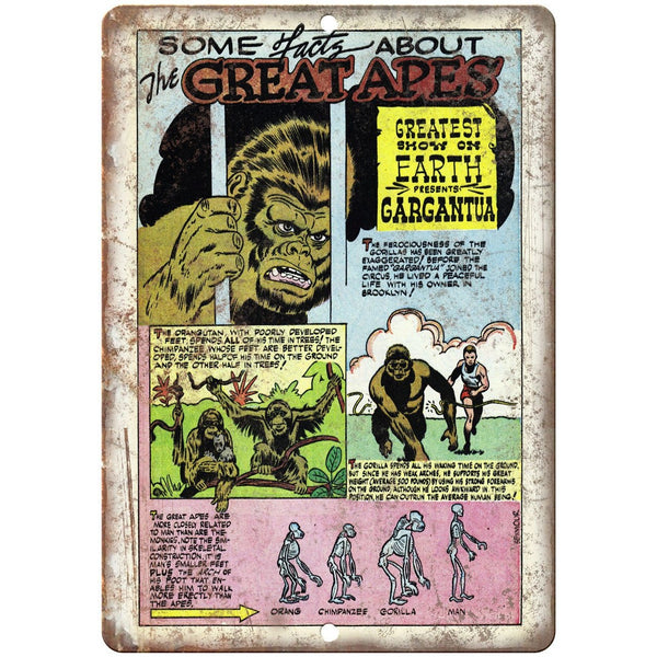 "Ace Comics The Great Apes Comic Strip 10"" X 7"" Reproduction Metal Sign J494"
