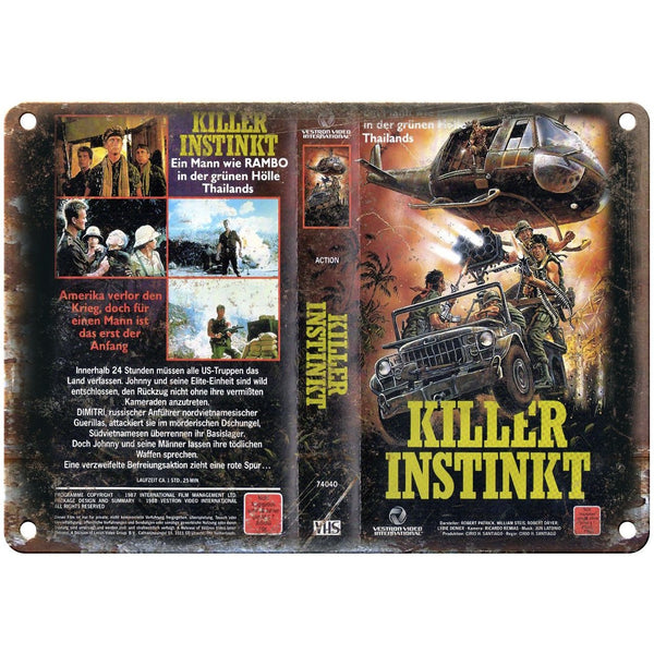 "Killer Instinkt Vestron Video VHS Box Art 10"" X 7"" Reproduction Metal Sign V39"