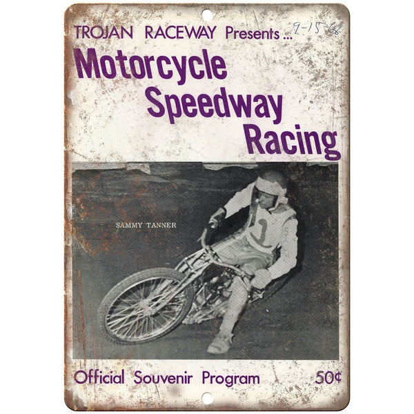 "Trojan Raceway Motorcycle Speedway Racing 10"" X 7"" Reproduction Metal Sign A560"