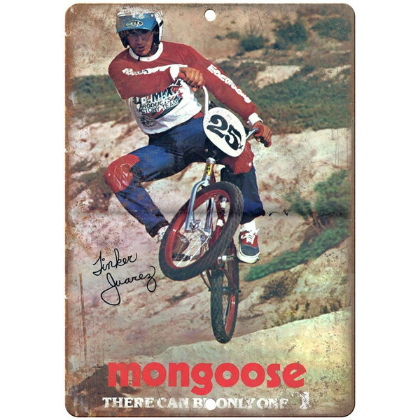 BMX vintage Mongoose 10' x 7' reproduction metal sign