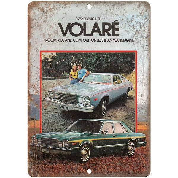 "1979 Plymouth Volae Car Sales Flyer Ad 10"" x 7"" Reproduction Metal Sign"