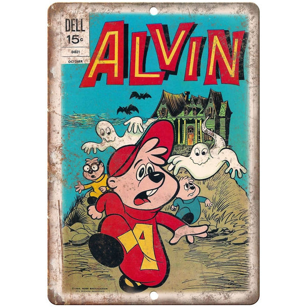 "Dell Comics Alvin The Chipmunk Cover 10"" X 7"" Reproduction Metal Sign J234"