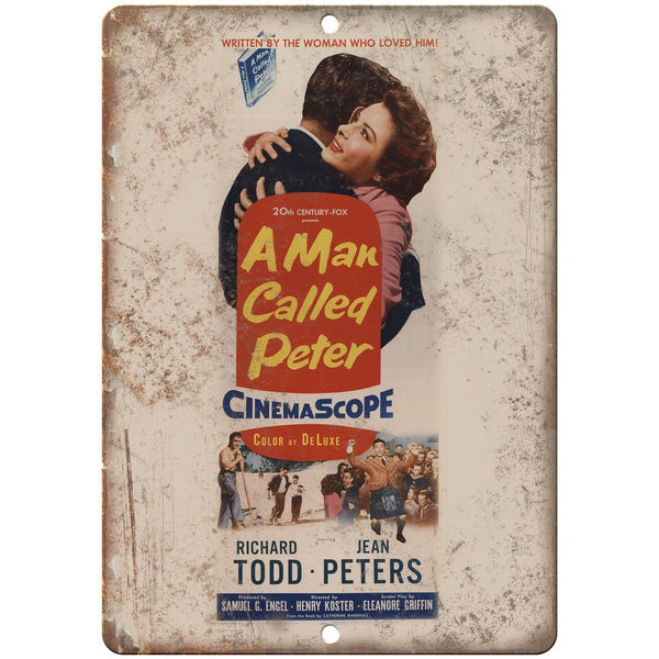 "A Man Called Peter Cinemascope Movie Ad 10"" X 7"" Reproduction Metal Sign I118"