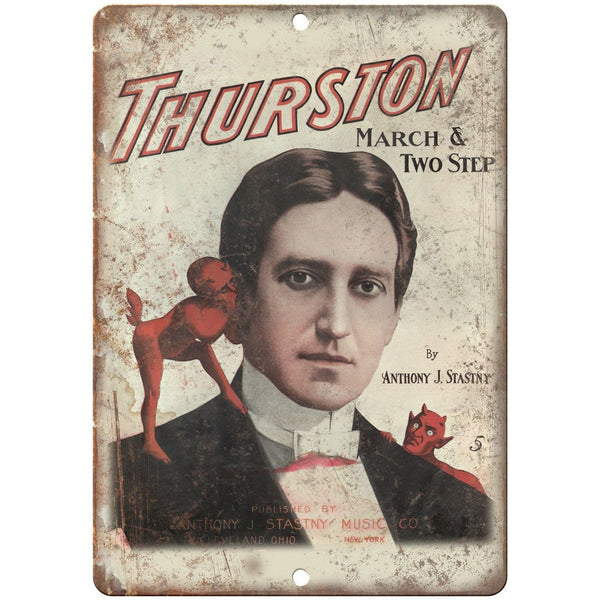 "Thurston march & Two Step Poster 10"" X 7"" Reproduction Metal Sign ZH191"