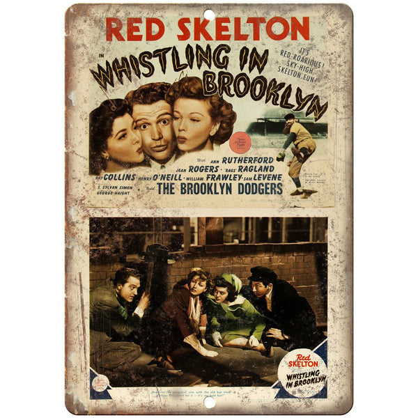 "Red Skeleton Whistling in Brooklyn Movie 10"" X 7"" Reproduction Metal Sign I134"
