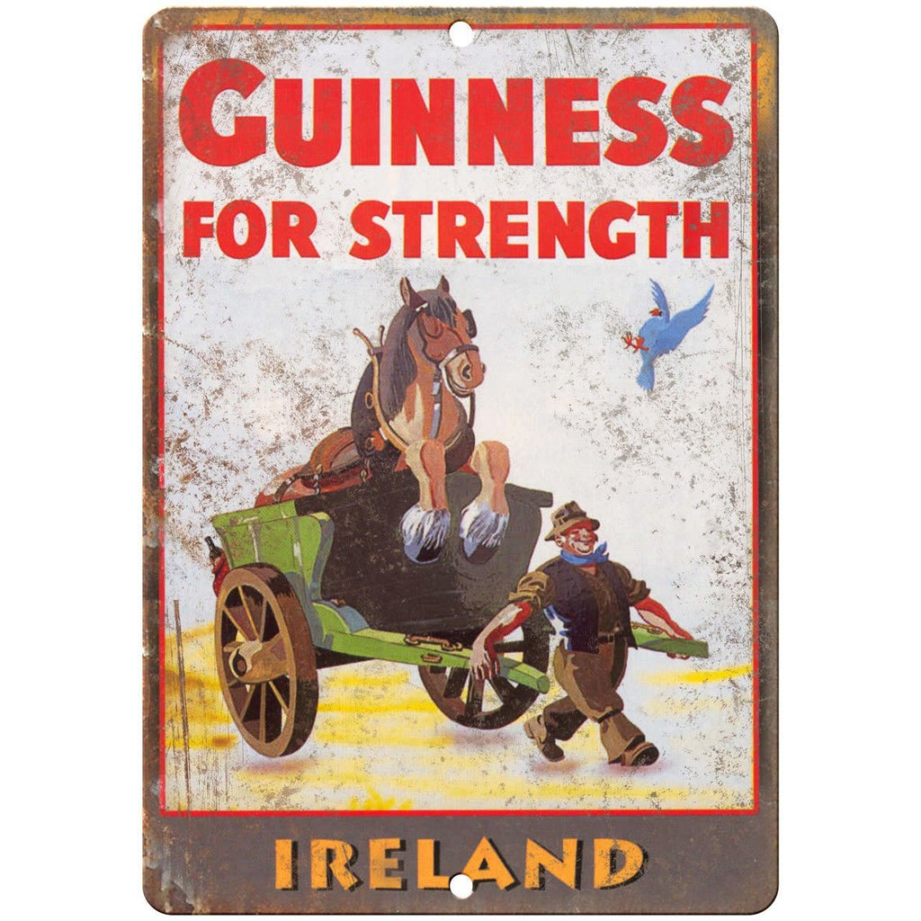 "Guinness Beer Ireland Breweriana Ad 10"" x 7"" Reproduction Metal Sign E11"