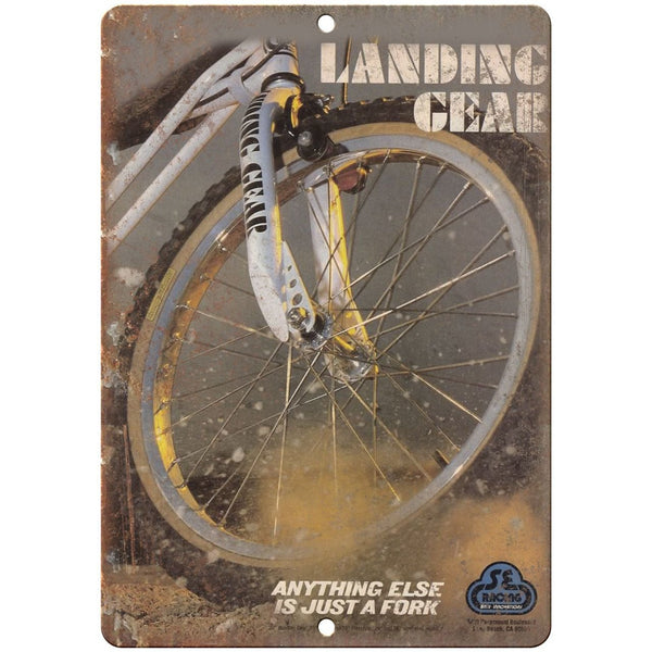 "Landing Gear BMX Forks - 10"" x 7"" Metal Sign Vintage Look Reproduction B187"