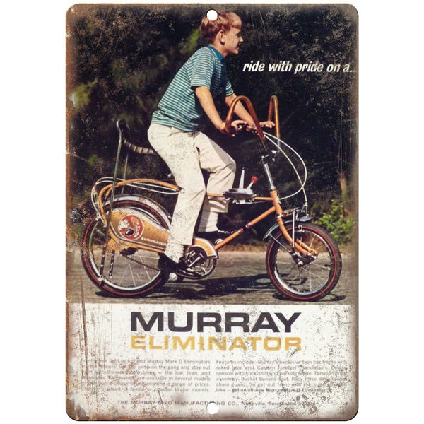 "Murray Eliminator Vintage Bicycle Ad 10"" x 7"" Reproduction Metal Sign B05"
