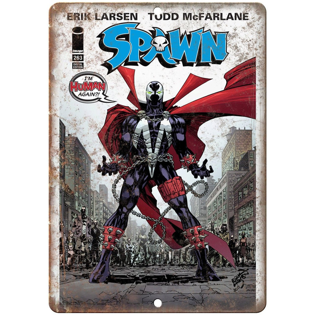 "Spawn Todd McFarlane Comic Book Marvel Comics 10"" x 7"" Retro Look Metal Sign"