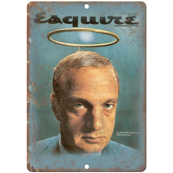 "Esquire Magazine Cover George Lois 1968 10"" x 7"" Reproduction Metal Sign D06"