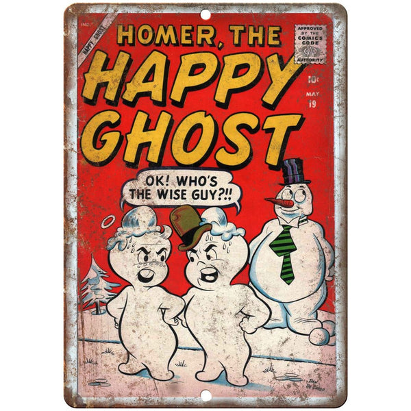 "Happy Ghost Comic Code Authority Cover Art 10"" X 7"" Reproduction Metal Sign J183"