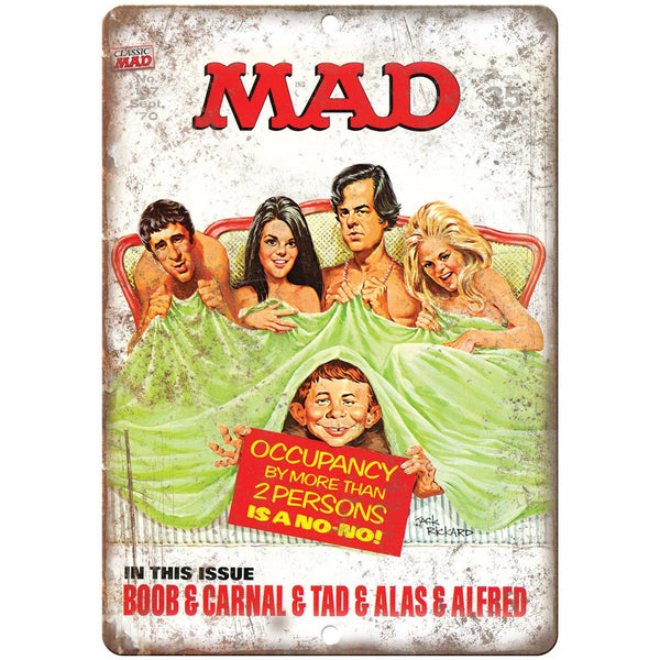 "1970 Mad Magazine No. 137 Dallas Cover Art 10"" x 7"" Reproduction Metal Sign J58"