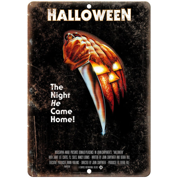 "10"" x 7"" Metal Sign - Halloween Movie Poster Vintage Look Reproduction"