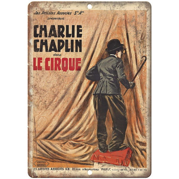 "Charlie Chaplin Le Cirque Circus Poster 10"" X 7"" Reproduction Metal Sign ZH113"
