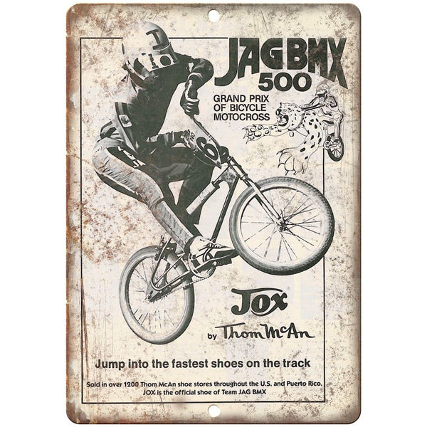 "10"" x 7"" Metal Sign - JAG BMX JoX Thom Mcan Sneaker - Vintage Look Reproduction"