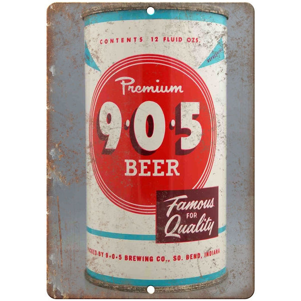 "Vintage Beer Can Premium 905 Beer 10"" x 7"" reproduction metal sign"