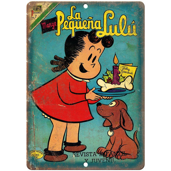 "La Pequena Lulu Vintage Comic Book 10"" X 7"" Reproduction Metal Sign J255"