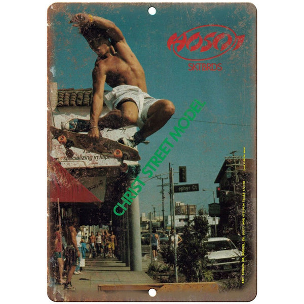 "Christian Hosoi Skateboards Christ Street - 10"" x 7"" Reproduction Metal Sign"
