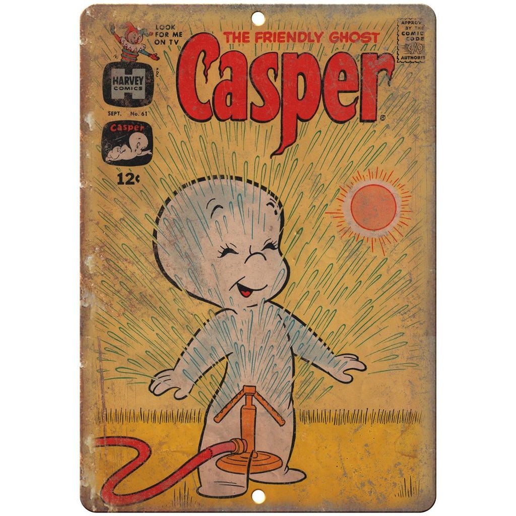 "Casper The Friendly Ghost Rare Comic Art 10"" X 7"" Reproduction Metal Sign J196"
