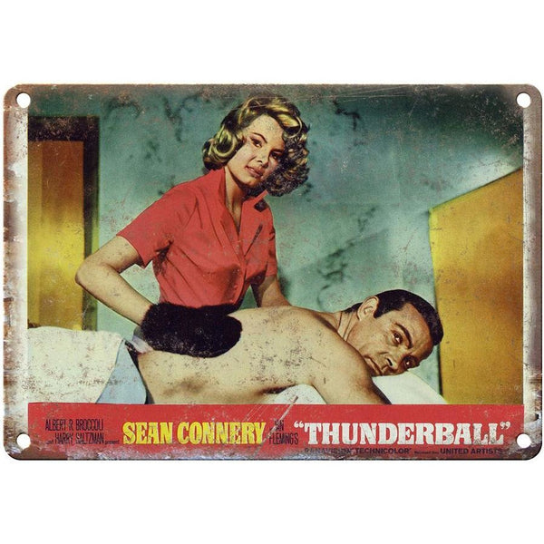 "James Bond, 007, Thunderball, Sean Connery, Lobby Card,10"" x 7"" retro metal sign"