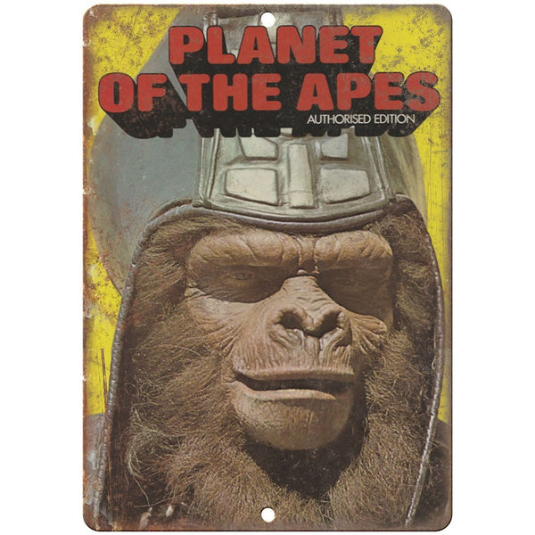 "Planet of the Apes book cover 10'"" x 7"" reproduction metal sign"