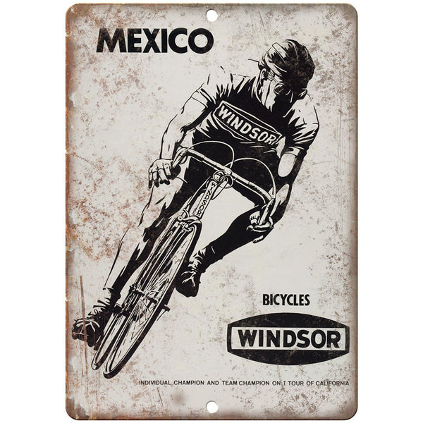 "Winsor Bicycles Vintage Ad 10"" x 7"" Reproduction Metal Sign B360"
