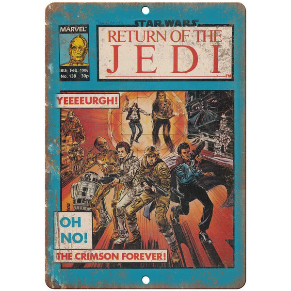 "Crimson Forever Return of The Jedi Comic 10"" x 7"" Reproduction Metal Sign J19"